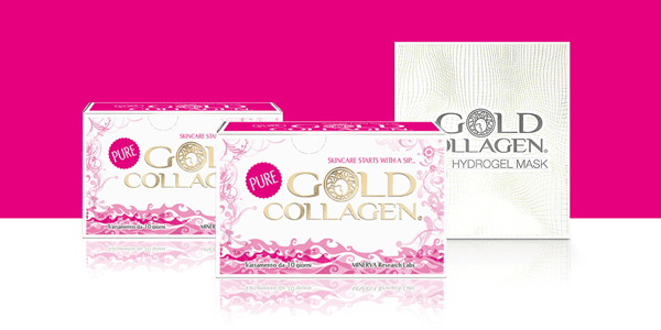 Комплект 2 Кутии PURE GOLD COLLAGEN и HYDROGEL MASK